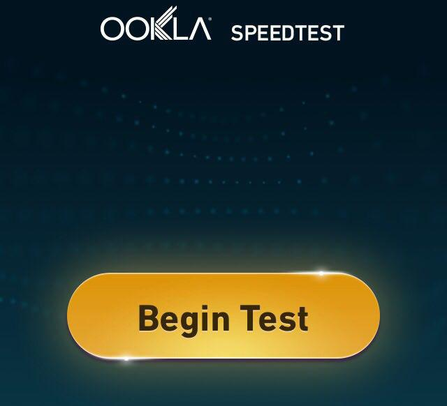 Пинг через Speedtest.net