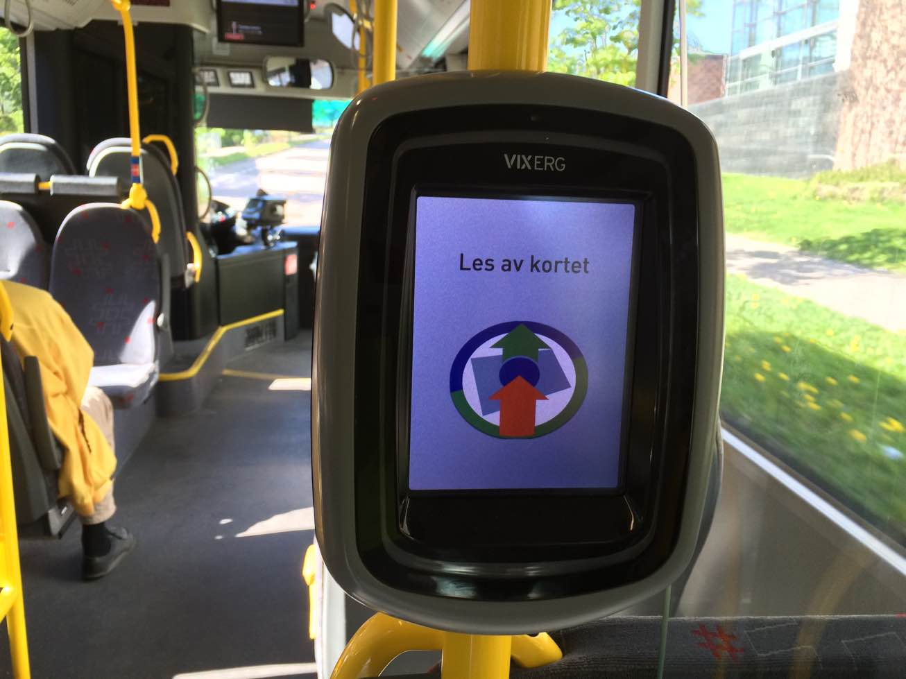 Ruter, terminal for ticket scanning