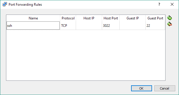 VirtualBox port forwarding