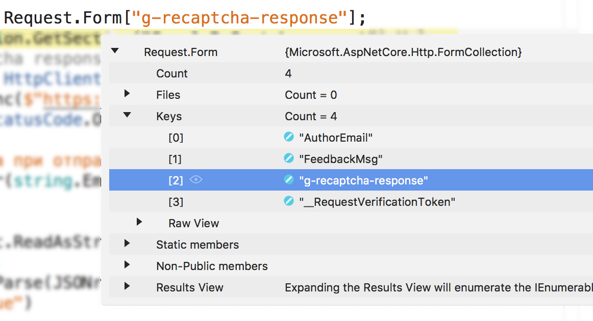 How to add reCAPTCHA to your  NET Core MVC project   Declaration of VAR