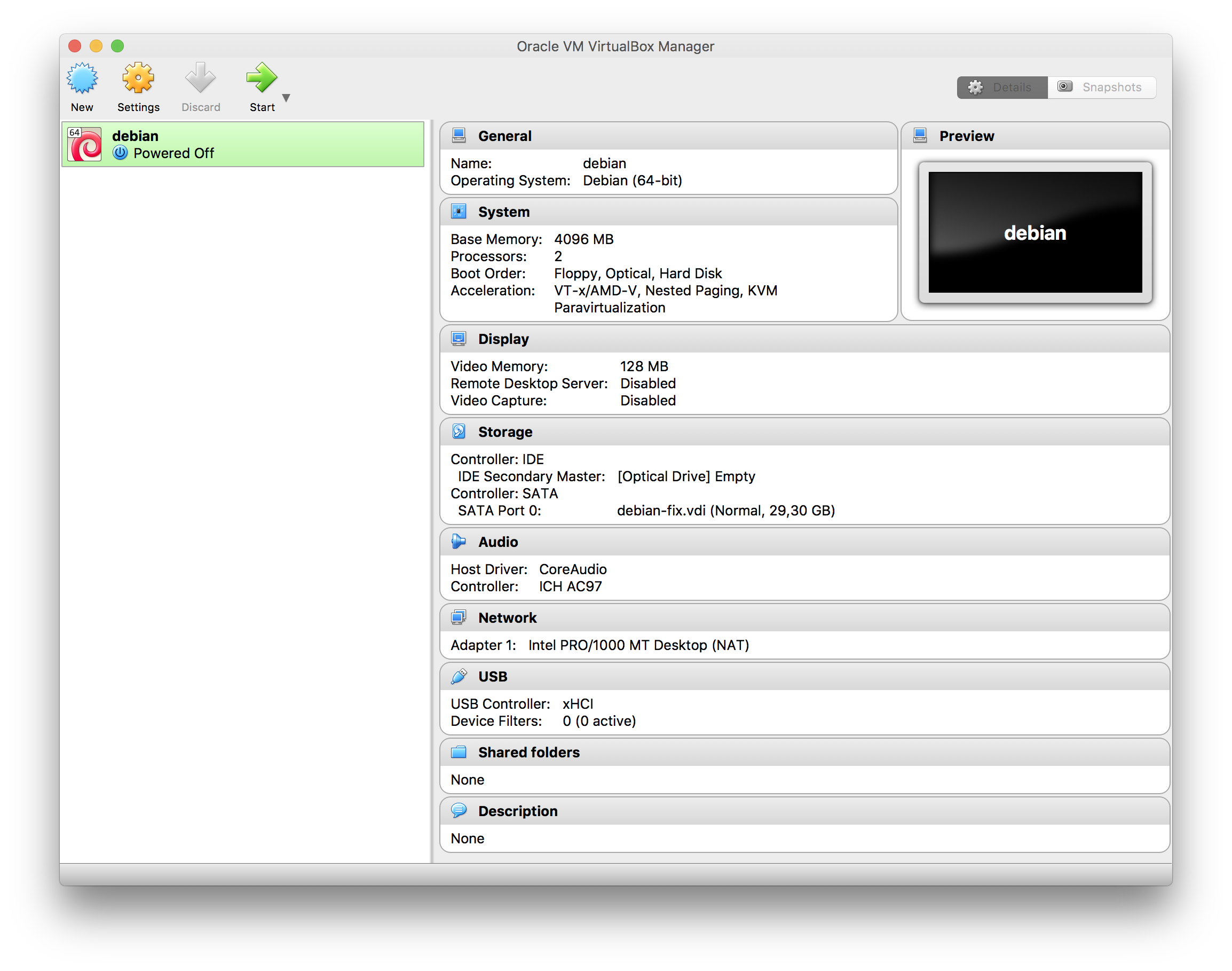 VirtualBox on Mac OS with a fullscreen Linux-guest