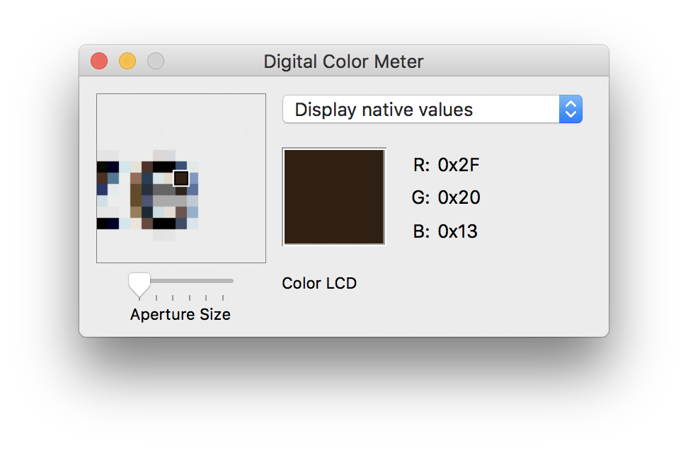 Mac OS Digital Color Meter