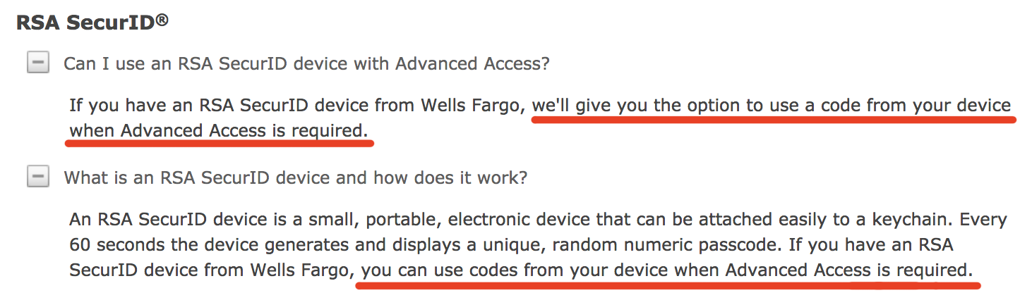 Wells Fargo 2FA FAQ