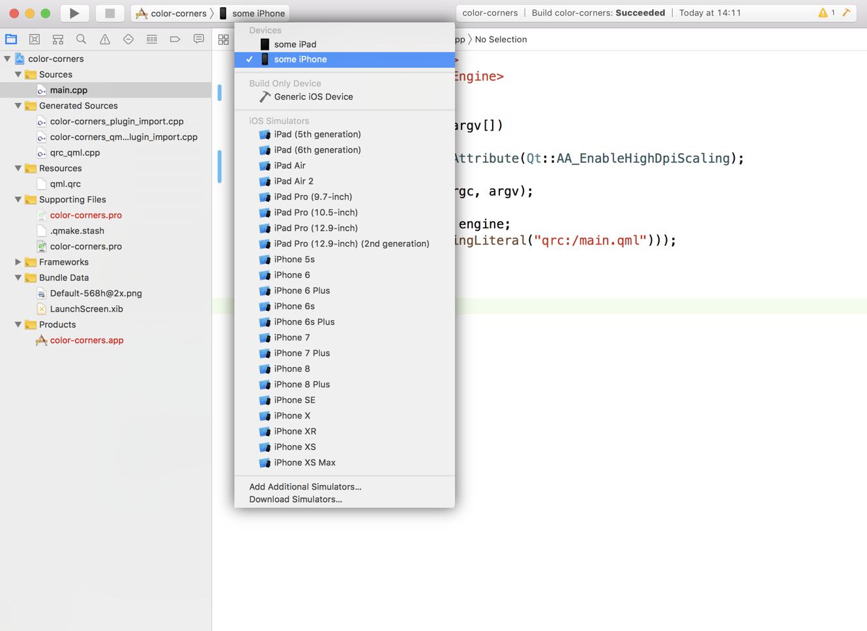 Qt for iOS - setting up development environment