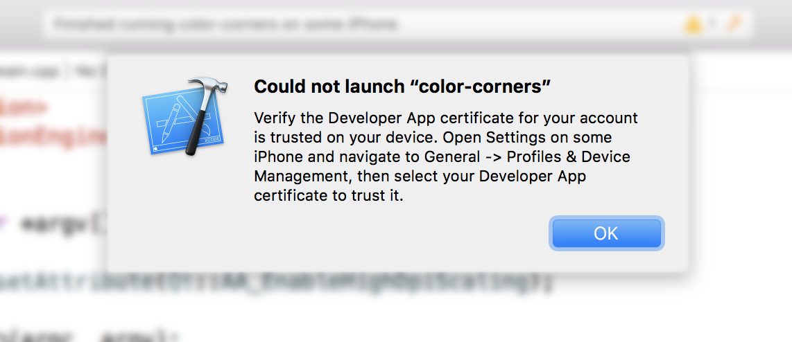 Xcode, verify certificate