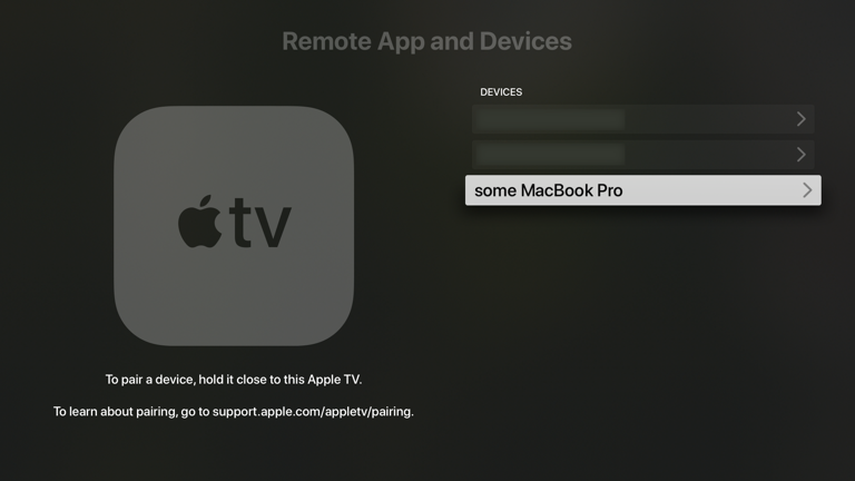 Apple TV, Remote App and Devices